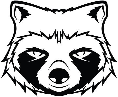 raccoon: Raccoon head symbol illustration