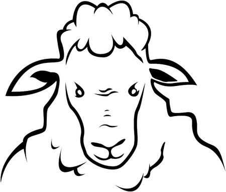 Sheep symbol illustration
