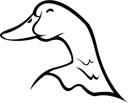 Eend symbool illustratie Stock Illustratie