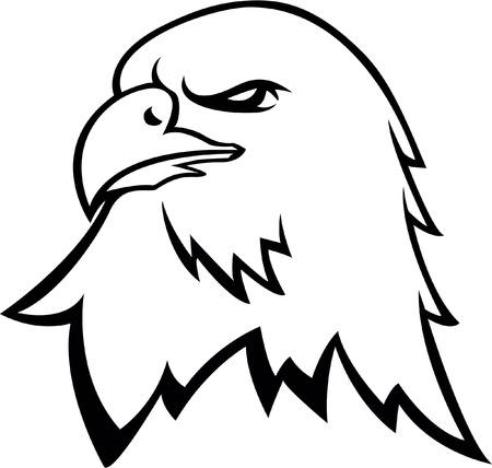 Eagle head symbol Иллюстрация