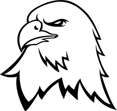 Eagle head symbol Illustration