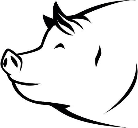 Pig symbol illustration Illustration
