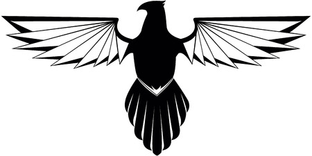 shield with wings: Eagle wing symbol
