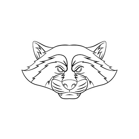 racoon: Racoon Symbol illustration