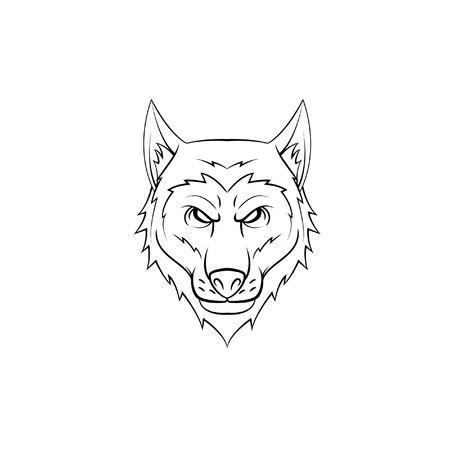 black wolf: Wolf head symbol illustration Illustration