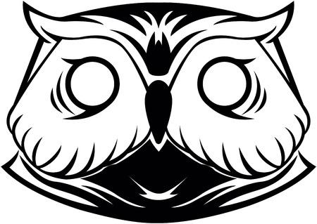 head wise: Owl head symbol