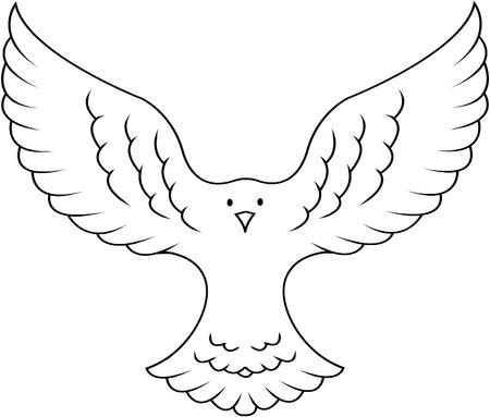 Peace dove illustration Illustration
