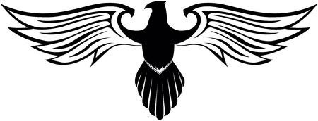 Eagle vleugel symbool Stock Illustratie