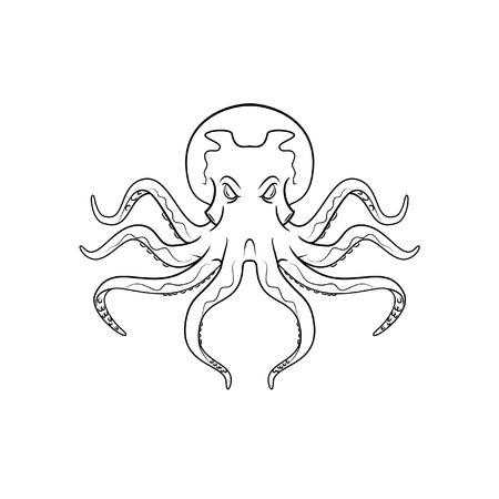 Octopus symbol illustration Illustration