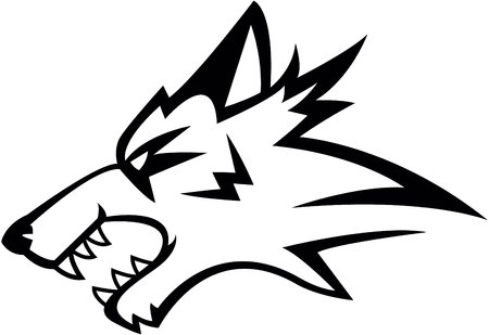 mascots: Wolf symbol illustration design