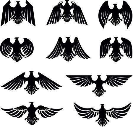 cartoon eagle: eagle symbol Illustration