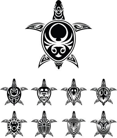 maories: S�mbolo de la tortuga Vectores
