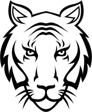 tiger head: Tiger head illustration design