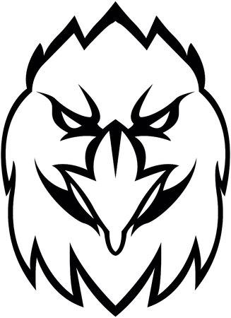 Eagle hoofd illustratie ontwerp Stock Illustratie