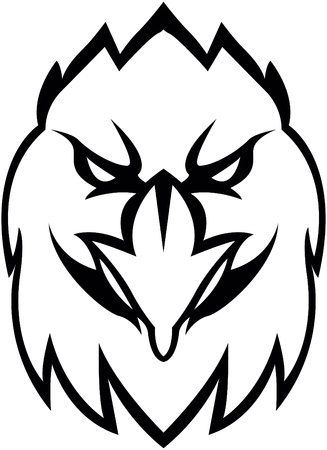 Eagle head illustration design