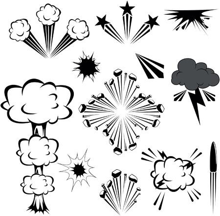 explosion vector: Explosion illustration