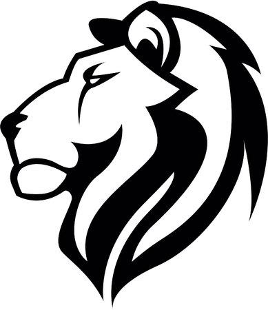 white shirt: Lion Head illustration design