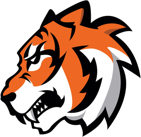 tiger white: Tiger Symbol illustration design