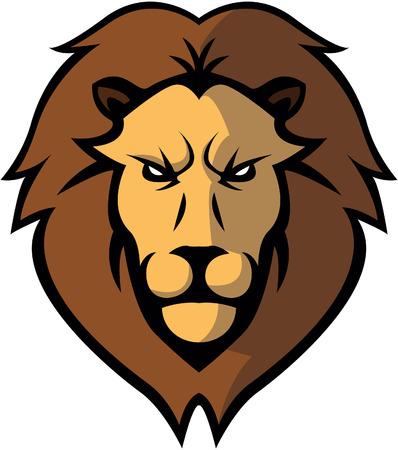 head silhouette: Lion Head illustration design