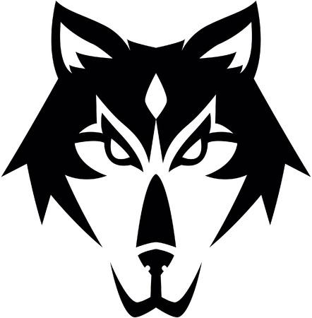 オオカミのシンボル イラスト デザイン