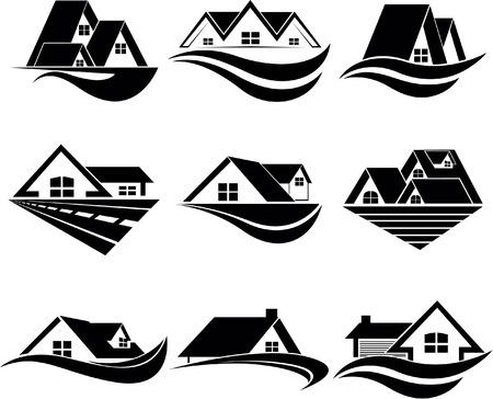 viviendas: Símbolo de la casa Vectores