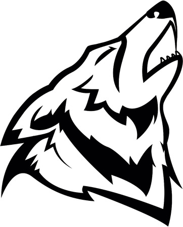 black wolf: Wolf symbol illustration design