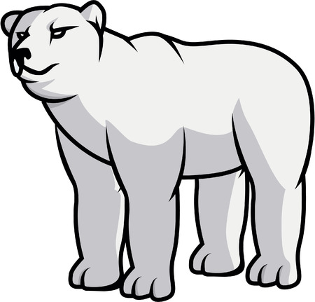 Polar bear illustration design