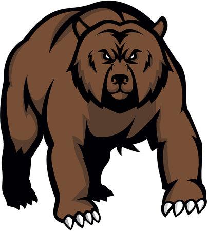 곰 그림 디자인