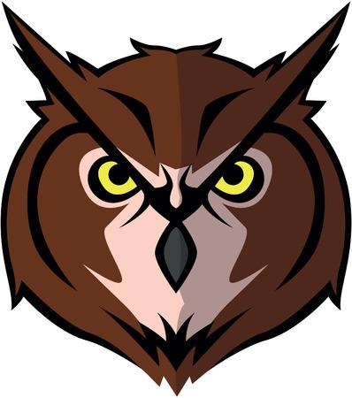 head wise: Owl head Illustration design Illustration