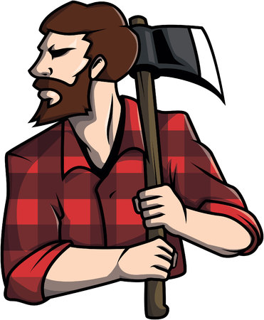 lumberjack: Lumberjack design vector illustration