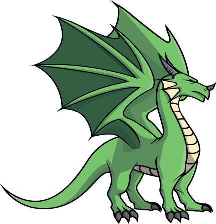 green dragon: Green Dragon illustration design