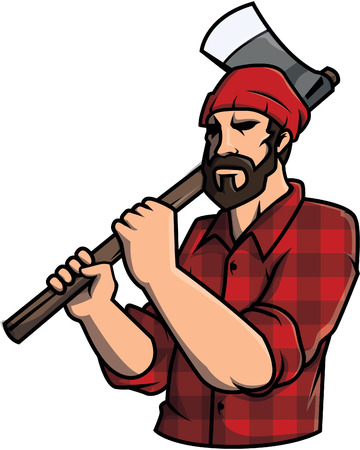 lumber: Lumber jack Illustration design Illustration