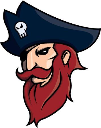 costume eye patch: pirates design vector illustration