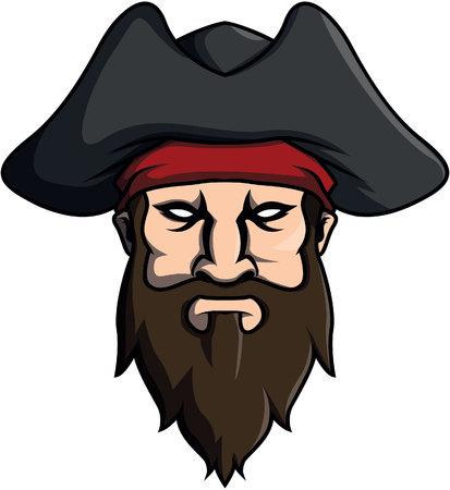 stiker: pirates design vector illustration