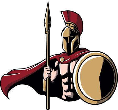 sports helmet: Spartan Illustration design