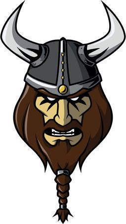 Viking head illustration design