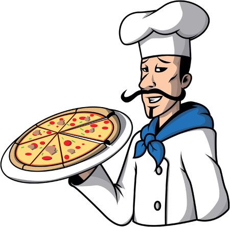 pizza chef: Pizza chef illustration design