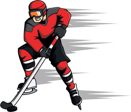 hockey games: Hockey sport cartoon illustration