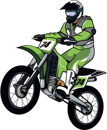 motorbike race: Motor cross illustration design