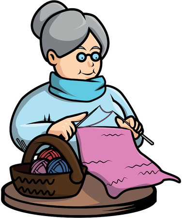 crochet: Grandma crochet illustration design
