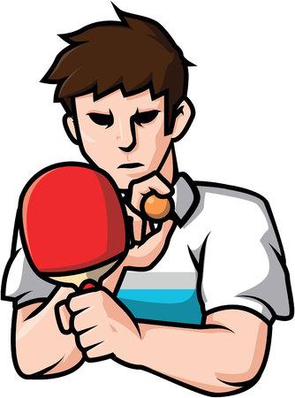 pong: Ping pong player illustration design