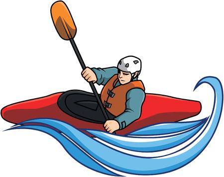 Kayaking illustration design