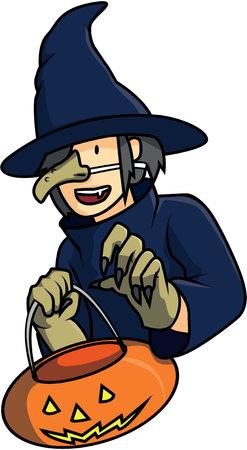cosplay: Cosplayer witch illustration design Illustration