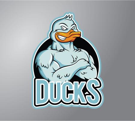 stiker: Duck Illustration