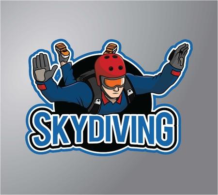 Skydiving design illustration