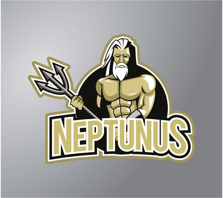 king neptune: Neptunus design illustration