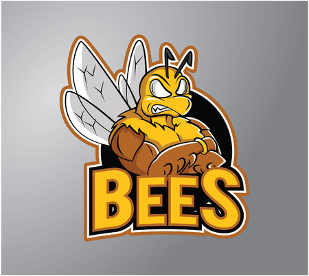 strong: Bee strong Illustration