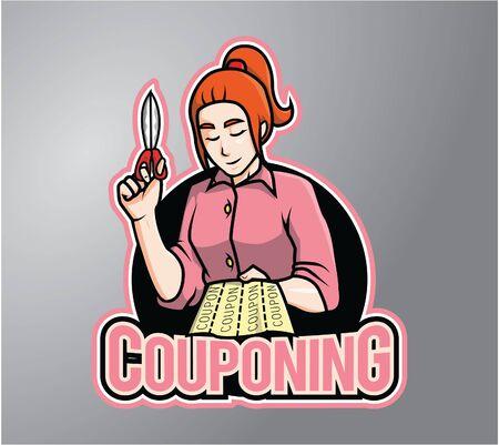 stiker: Coupon Illustration