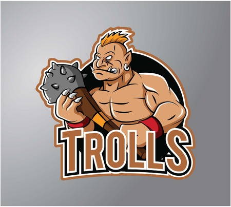 troll: Troll Mascot design vector illustration