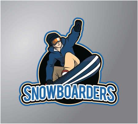 boarder: snow boarder design vector illustration